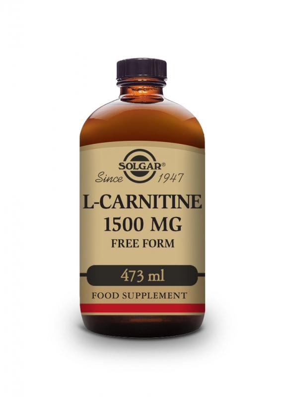 Produkty - Solgar L-karnitin 1500 mg – tekutý s přírodní citrónovou příchutí 473 ml