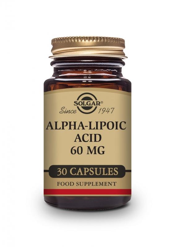 Produkty - Solgar ALA 60mg - Kyselina alfa lipoová 30 cps
