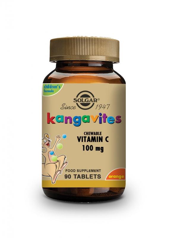 Produkty - Solgar Cucací vitamín C 100 mg - Přírodní pomerančová příchuť 90 tbl