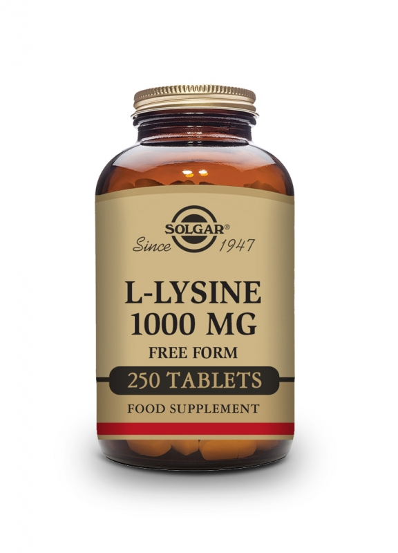 Produkty - Solgar L-Lysin 1000mg 250 tbl