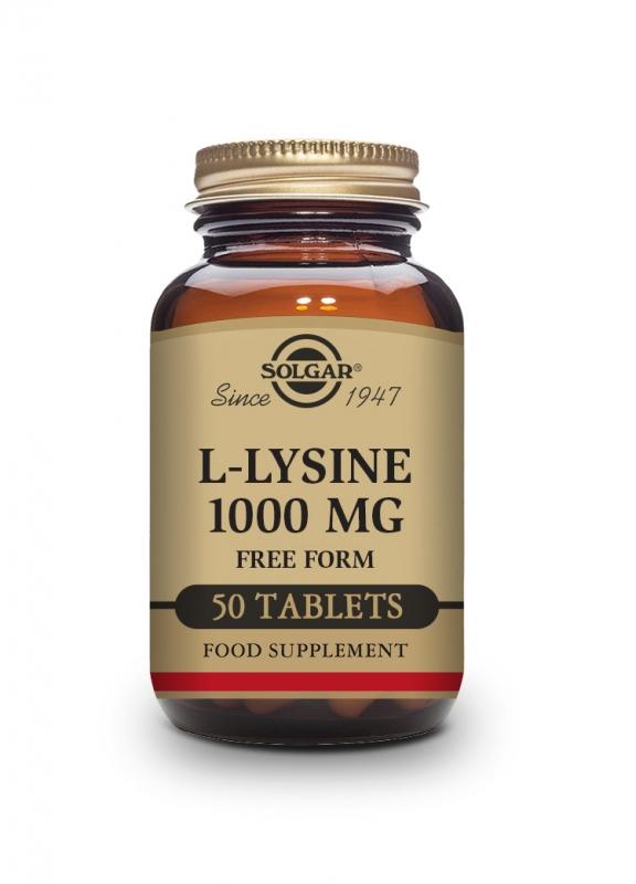 Produkty - Solgar L-Lysin 1000mg 50 tbl