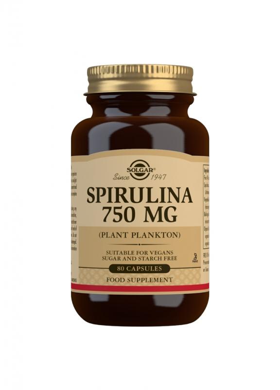 Produkty - Solgar Spirulina 750mg 100 tbl