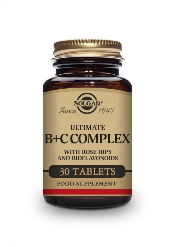 Produkty - Solgar Super B+C komplex 30 tbl