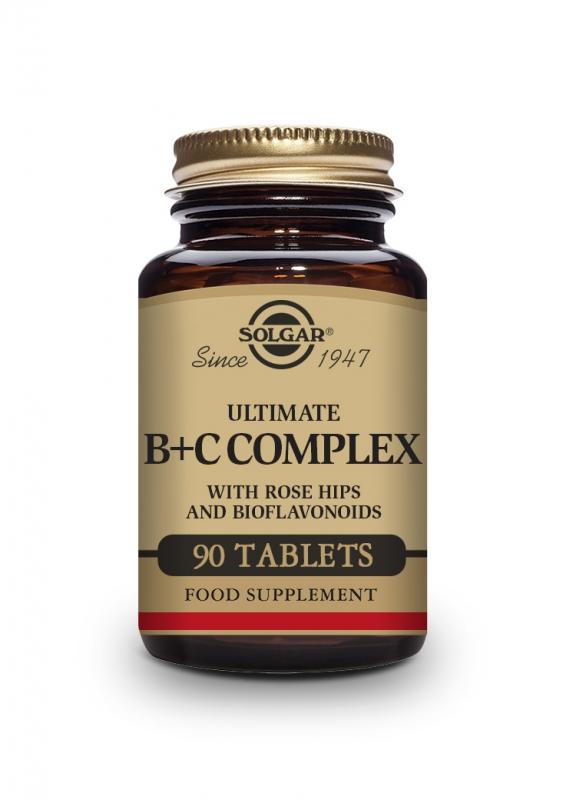 Produkty - Solgar Super B+C komplex 90 tbl