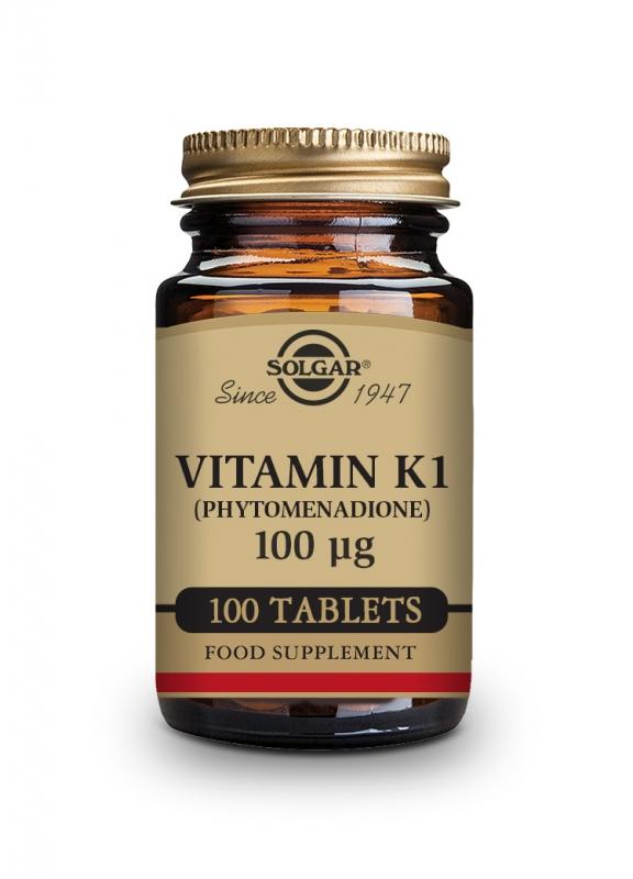 Produkty - Solgar Vitamín K1 100 ug 100 tbl