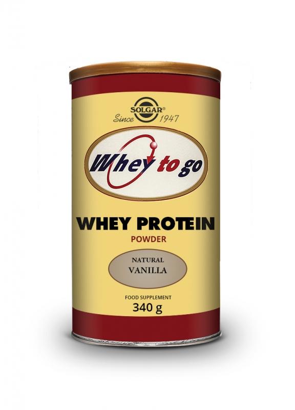 Produkty - Solgar Whey To Go -  Syrovátkový proteinový prášek s přírodní vanilkovou příchutí 304 g